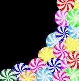 Fond des sucreries des lucettes Photographie stock libre de droits