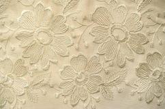 Fond des tissus transparents de dentelle blanche Images stock