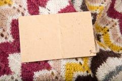 Fond des tissus tricotés Images libres de droits