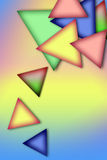 Fond des triangles multicolores Images libres de droits
