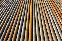 Fond des tuyaux d'acier Image libre de droits