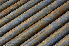 Fond des tuyaux d'acier Photos stock