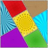 Fond diagonal coloré de bande dessinée Image libre de droits