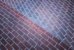 Fond diagonal de texture de tuile de route de parc image stock