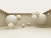 Fond différent abstrait des sphères 3d Photos libres de droits