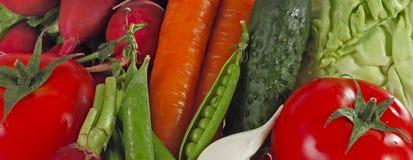 Fond différent de légumes crus Consommation saine Photos libres de droits