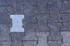 Fond différent de texture d'Asphalt Stone Sidewalk Brick Detail de couleur Images libres de droits