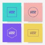 Fond différent réglé de couleur de calibre de conception de couverture minimal Image libre de droits