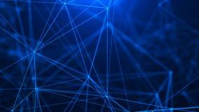 Fond digital abstrait Dots And Lines se reliant Grande visualisation de donn?es Connexion r?seau Fond de la Science image stock