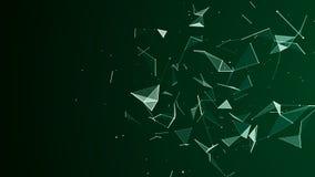 Fond digital abstrait Particules cosmiques L'effet du plexus Grande visualisation de donn?es rendu 3d illustration de vecteur