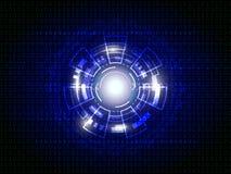 Fond digital de technologie abstraite bleue Images stock