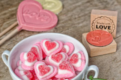 Fond doux d'amour Images stock
