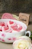 Fond doux d'amour Photographie stock