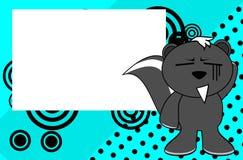 Fond doux de bande dessinée d'émotion de mouffette illustration de vecteur