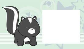 Fond doux de cadre de bande dessinée de mouffette de bébé illustration de vecteur