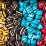 Fond doux de nourriture de sucrerie vibrante colorée photographie stock libre de droits
