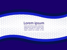 Fond doux de ondulation abstrait de calibre de papier bleu Photo libre de droits