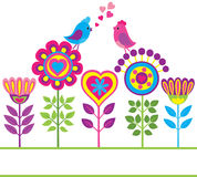 Fond drôle coloré décoratif de fleur Photo libre de droits