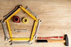 Fond drôle de construction Photo stock