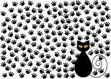 Fond drôle de pattes de chat et de chats illustration libre de droits