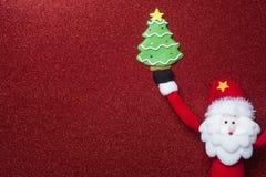 Fond drôle de Santa Claus Christmas Photographie stock