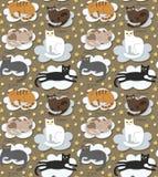 Fond drôle sans couture de chats illustration libre de droits