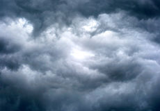 Fond dramatique de cloudscape photographie stock libre de droits
