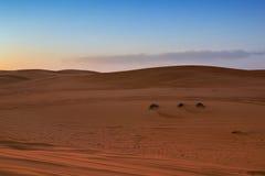 Fond du coucher du soleil de désert Images libres de droits
