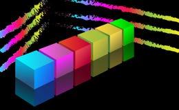 fond du cube 3d illustration stock