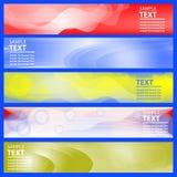 Fond du drapeau Set Calibre lumineux horizontal de design d'entreprise Photos stock