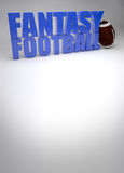 Fond du football d'imagination Photos stock