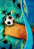 Fond du football ou du football illustration stock