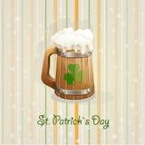Fond du jour de St Patrick avec un mug-EPS10 Photo stock