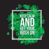 Fond du jour de St Patrick typographique Image stock