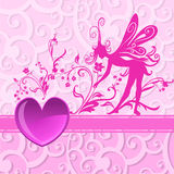 Fond du jour de Valentine Photo libre de droits