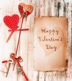 Fond du jour de Valentine Carte de cru Photo stock