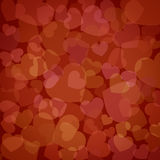 Fond du jour de valentine de coeurs illustration de vecteur