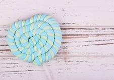 Fond du jour de Valentine Lucette en forme de coeur de guimauve Image stock