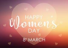 Fond du jour des femmes avec la conception en pastel de coeur Photographie stock