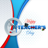 Fond du jour du professeur heureux avec le texte 3d illustration de vecteur