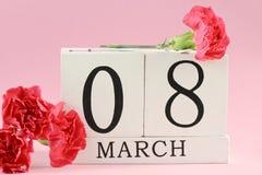 Fond du 8 mars Photos libres de droits