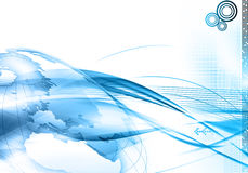 Fond du monde de technologie Images stock