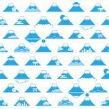 Fond du mont Fuji avec les illustrations japonaises.