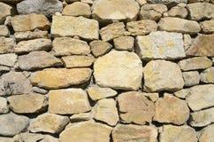 Fond du mur en pierre Photographie stock