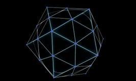 Fond du néon hexagonal, 3d Photographie stock