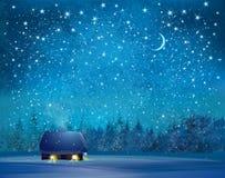 Fond du pays des merveilles d'hiver de vecteur illustration stock