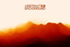 fond du paysage 3D Illustration rouge noire de vecteur d'abrégé sur gradient Ordinateur Art Design Template Paysage avec Image stock
