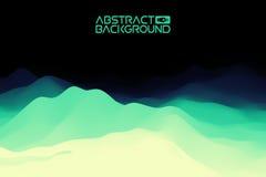 fond du paysage 3D vert à l'illustration bleue de vecteur d'abrégé sur gradient Ordinateur Art Design Template Paysage Photos libres de droits