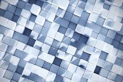 fond du rendu 3D avec des cubes en bleu glacier Image libre de droits