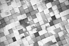 fond du rendu 3D avec les cubes blancs Photo stock